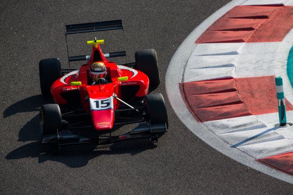 2015 GP3 Series Test 4. Yas Marina Circuit, Abu Dhabi, United Arab Emirates. Thursday 3 December 2015. Charles Leclerc (MON, Arden International)  World Copyright: Sam Bloxham/LAT Photographic. ref: Digital Image _SBL1291