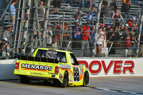 12-13 May, 2016, Dover, Delaware USA Matt Crafton celebrates his win with a burnout ? 2016, Nigel Kinrade LAT Photo USA