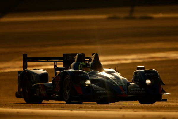 2015 FIA World Endurance Championship Bahrain 6-Hours Bahrain International Circuit, Bahrain Saturday 21 November 2015. Nelson Panciatici, Paul Loup Chatin, Tom Dillmann (#36 LMP2 Signatech Alpine Alpine A450B Nissan). World Copyright: Alastair Staley/LAT Photographic ref: Digital Image _79P0919