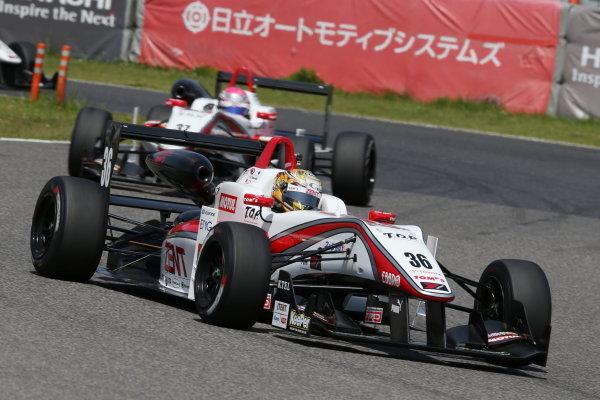 2016 Japanese Formula 3 Championship. Suzuka, Japan. 23rd - 24th April 2016. Rd 1 & 2. Rd. 2 Winner Kenta Yamashita ( #36 ZENT TOM'S F312 ) action World Copyright: Masahide Kamio / LAT Photographic. Ref: 2016JF3_Rd1&2_09