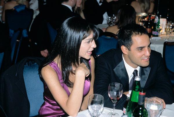 2003 Autosport AwardsGrosvenor Hotel, London, EnglandJuan Pablo and Connie Montoya. Portrait.World Copyright: Gold/LATref: 35mm Transparency (30mb scan)