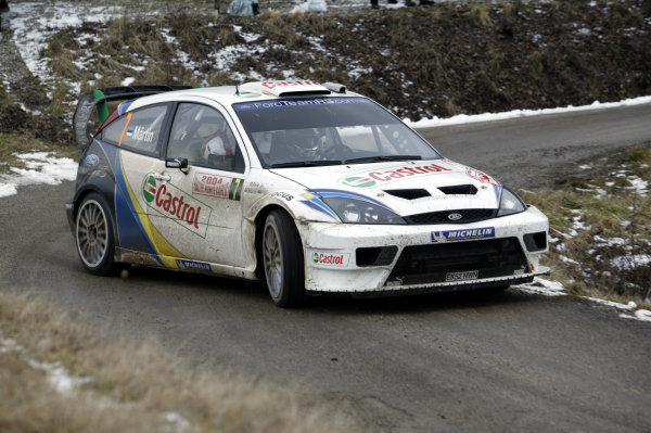 2004 FIA World Rally Champs. Round one, Monte Carlo Rally.22nd-25th January 2004.Markko Martin, Ford, Action.World Copyright: McKlein/LAT