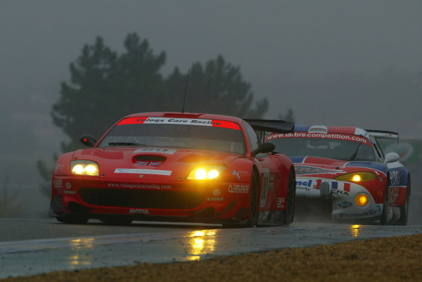 2003 Le Mans 1000kmLe Mans, France. 8th - 9th October 2003.GTS Battle........ Ferrari v Viper.... Care v Labre.World Copyright: John Brooks/LAT Photographicref: Digital Image Only