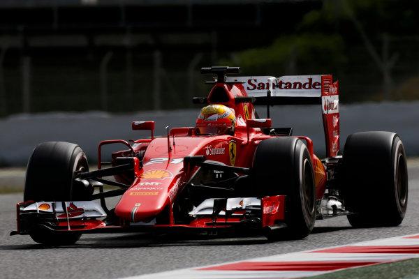 Circuit de Catalunya, Barcelona, Spain. Wednesday 13 May 2015. Esteban Gutierrez, Ferrari SF15-T.  World Copyright: Alastair Staley/LAT Photographic. ref: Digital Image _79P5174