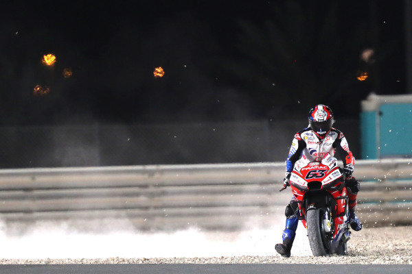 Francesco Bagnaia, Pramac Racing goes wide.