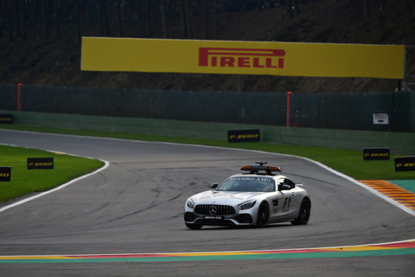 Safety car at Formula One World Championship, Rd12, Belgian Grand Prix, Race, Spa Francorchamps, Belgium, Sunday 27 August 2017.