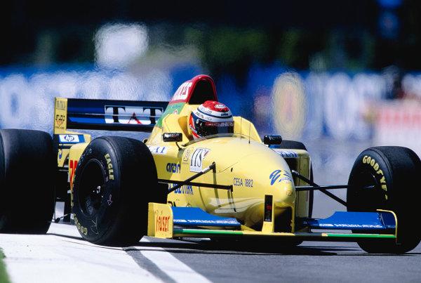 1996 San Marino Grand Prix.Imola, Italy. 3-5 May 1996.Andrea Montermini (Forti FG01-95B Ford).Ref-96 SM 30.World Copyright - LAT Photographic