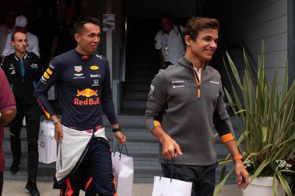 Lando Norris, McLaren and Alexander Albon, Red Bull Racing