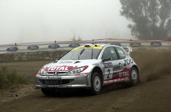 2001 World Rally Championship. ArgentinaMay 3rd-6th, 2001Didier Auriol on stage three.Photo: Ralph Hardwick/LAT