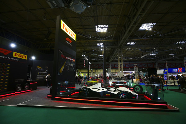 A BAC Mono on the Pirelli stand.