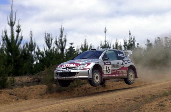 2001 World Rally ChampionshipTelstra Rally Australia, Perth, WA. 1-4 November 2001.Harri Rovanpera on stage 19.Photo: Ralph Hardwick/LAT