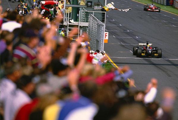 2002 Australian Grand PrixMelbourne Park, Australia. 1st - 3rd March 2002.Mark Webber, KL Minardi Asiatech PS02, takes 5th position in his maiden grand prix, also on home soil.Photo: Steven Tee/LAT Photographicref: 35mm Image A44
