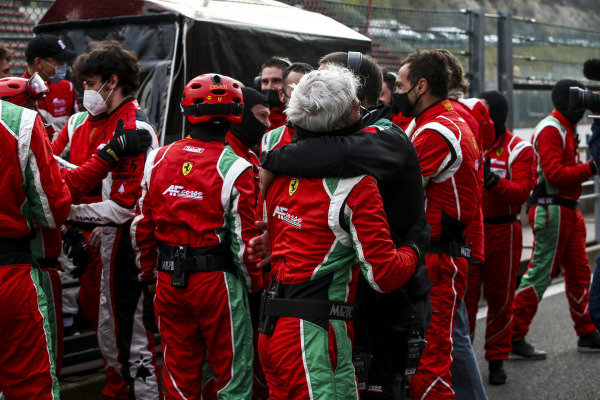 The AF Corse team celebrate