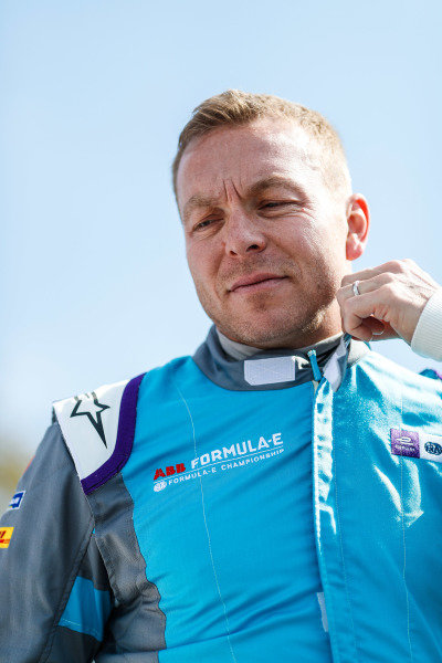 Olympic gold medalist Sir Chris Hoy, gets ready to go on track
