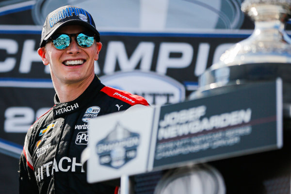 Josef Newgarden, Team Penske Chevrolet celebrates winning the NTT IndyCar championship