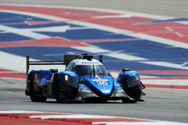 2017 FIA World Endurance Championship, COTA, Austin, Texas, USA. 14th-16th September 2017, #36 Signatech Alpine Matmut Alpine A470-Gibson: Nicolas Lapierre, Gustavo Menezes, Andr? Negr?o  World Copyright. May/JEP/LAT Images