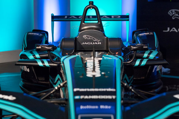 Panasonic Jaguar Racing RE:CHARGE LIVE EVENT Whitely Engineering Centre, Warwickshire, UK Thursday 21 September 2017. The new Jaguar Racing I-TYPE 2 Formula E car Photo: Alastair Staley/LAT/Jaguar ref: Digital Image _ALS0039
