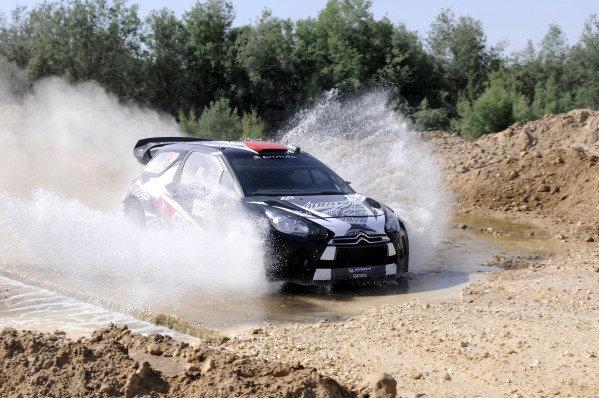 Kimi Raikkonen (FIN), Citroen DS3 WRC, on stage 12. World Rally Championship, Rd4, Rally Jordan, Dead Sea, Amman, Jordan, Day 2, Friday 15 April 2011.