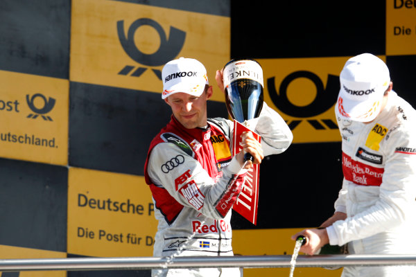 2017 DTM Round 2 Lausitzring, Germany. Sunday 21 May 2017. Podium: Mattias Ekstr?m, Audi Sport Team Abt Sportsline, Audi A5 DTM World Copyright: Alexander Trienitz/LAT Images ref: Digital Image 2017-DTM-R2-ESL-AT1-4766