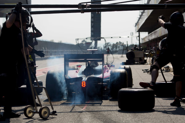Circuit de Barcelona Catalunya, Barcelona, Spain. Wednesday 15 March 2017. Nobuharu Matsushita (JPN, ART Grand Prix). Action.  Photo: Alastair Staley/FIA Formula 2 ref: Digital Image 585A0169