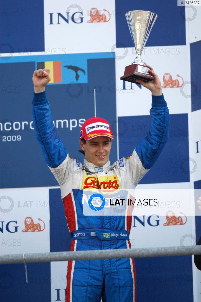 Spa-Francorchamps, Spa, Belgium. 30th August 2009.Sunday Race.Diego Nunes (BRA, iSport International). World Copyright: Andrew Ferraro / GP2 Series Media Service.Ref: _H0Y0221 jpg