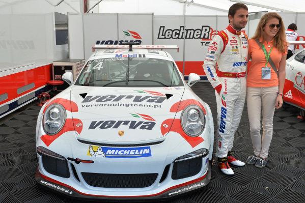 Kuba Giermaziak (POL) Verva Racing Team, left. Porsche Supercup, Rd1, Barcelona, Spain, 9-11 May 2014.