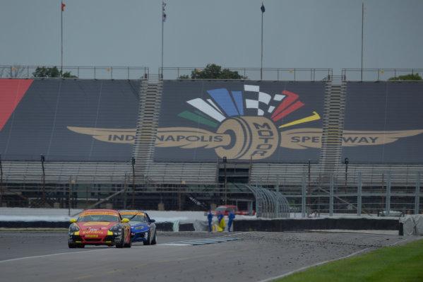 24-25 July,  2014, Indianapolis, Indiana, USA 42, Porsche, Cayman, ST, Wayne Nonnamaker, Will Nonnamaker ©2014, Richard Dole LAT Photo USA