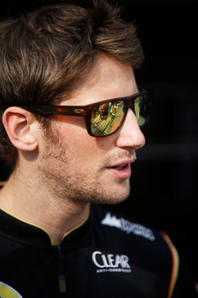 Hungaroring, Budapest, Hungary. Saturday 26 July 2014. Romain Grosjean, Lotus F1. World Copyright: Charles Coates/LAT Photographic. ref: Digital Image _J5R8151