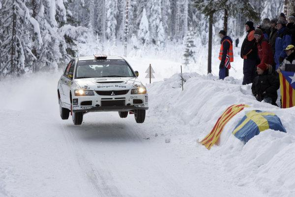 Round 02Rally Norway 12-15 February 2009Eyvind Brynildsen, Mitsubishi PWRC, ActionWorldwide Copyright: McKlein/LAT