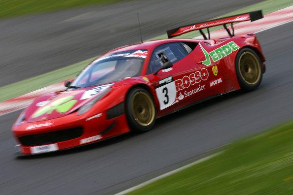 Brands Hatch, Kent. 23rd - 24th June 2012.Hector Lester/Allan Simonsen Rosse Verde Ferrari 458 Italia.World Copyright: Ebrey/LAT Photographic.
