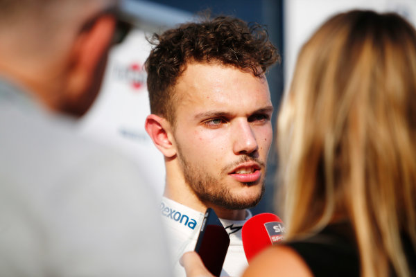 Hungaroring, Budapest, Hungary.  Wednesday 02 August 2017. Luca Ghiotto, Williams FW40 Mercedes. World Copyright: Joe Portlock/LAT Images  ref: Digital Image _L5R3808