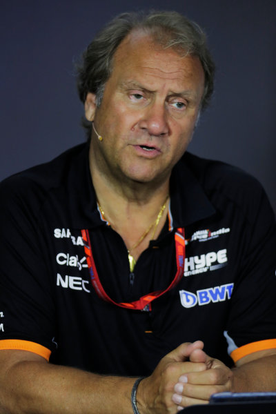 Baku City Circuit, Baku, Azerbaijan. Friday 23 June 2017. Bob Fernley, Deputy Team Principal, Force India, in the Team Principals' Press Conference. World Copyright: Zak Mauger/LAT Images ref: Digital Image _54I0947