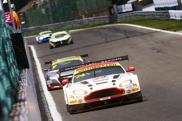 2017 British GT Championship, Spa-Francorchamps, Belgium. 7th - 8th July 2017. Jack Mitchell / James Littlejohn Macmillan AMR Aston Martin Vantage GT3. World Copyright: JEP/LAT Images.