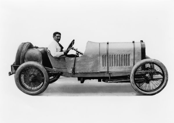 Dieppe, France. 25th June 1912.Georges Boillot (Peugeot L76), 1st position, Portrait. World Copyright: LAT Photographic.Ref:  Autocar Glass Plate C13366.
