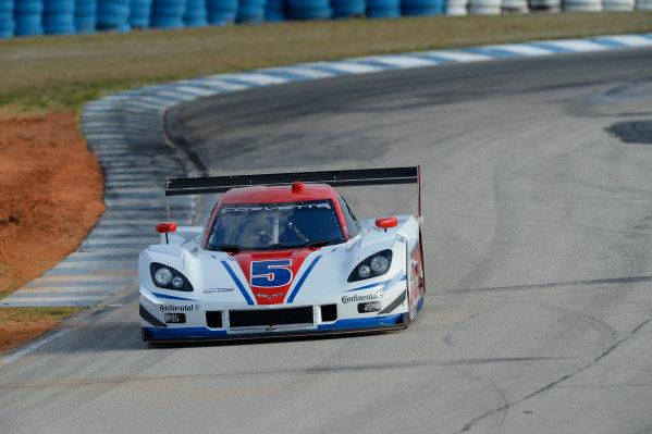 16-17 November, 2013, Sebring, Florida The #5 Action Express Racing Corvette DP driven by Joao Barbosa and Christian Fittipaldi. @2013 Richard Dole LAT Photo USA