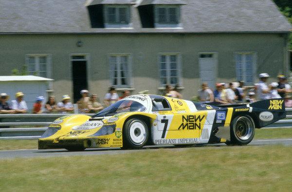1984 Le Mans 24 hours.Le Mans, France. 16-17 June 1984.Klaus Ludwig/Henri Pescarolo (Porsche 956), 1st position.World Copyright: LAT Photographic. Ref: 84LM15.