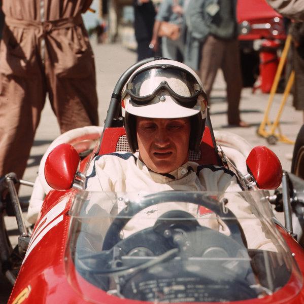 Nurburgring, Germany.5-7 August 1966.Michael Parkes (Ferrari 312).Ref-3/2317.World Copyright - LAT Photographic