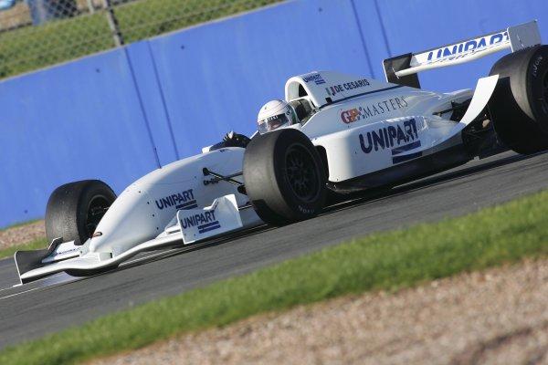 2005 GP Masters TestingSilverstone, England26 - 27/10/05Andrea de Cesaris spinsWorld Copyright: Glenn Dunbar / LAT PhotographicDigital Image Only