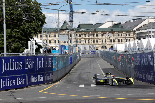 2014/2015 FIA Formula E Championship. Moscow ePrix, Moscow, Russia. Saturday 6 June 2015 Antonio Garcia (SPA)/China Racing - Spark-Renault SRT_01E. Photo: Zak Mauger/LAT/Formula E ref: Digital Image _L0U0965