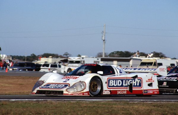Davy Jones (USA) Jaguar XJR-12D, 2nd place.IMSA GTP Championship, Rd1, Daytona 24 Hours, Daytona Beach, Florida, USA. 2 January 1992.BEST IMAGE