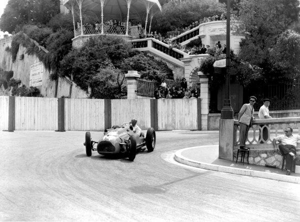 1950 Monaco Grand Prix.Monaco, Monte Carlo. 21st May 1950.Philippe Etancelin (Lago-Talbot T26C). Ref-C26718.World Copyright: LAT Photographic