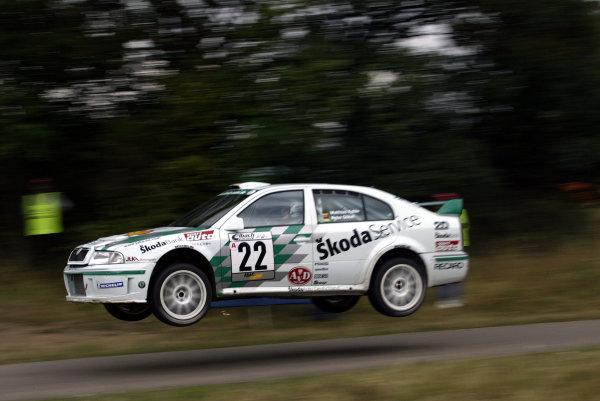 2003 FIA World Rally Champs. Round eight, Deutschland Rally24th-27th July 2003.Matthias Kahle, Skoda, action. World Copyright: McKlein/LAT