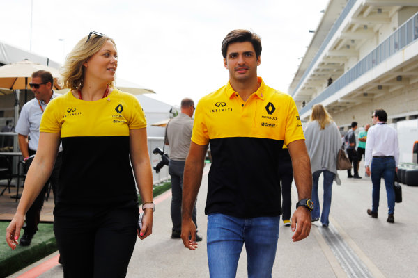 Circuit of the Americas, Austin, Texas, United States of America. Thursday 19 October 2017. Carlos Sainz Jr, Renault Sport F1. World Copyright: Steven Tee/LAT Images  ref: Digital Image _O3I0860