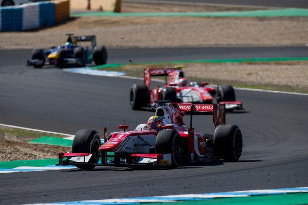 2017 FIA Formula 2 Round 10. Circuito de Jerez, Jerez, Spain. Sunday 8 October 2017. Charles Leclerc (MCO, PREMA Racing).  Photo: Zak Mauger/FIA Formula 2. ref: Digital Image _56I7677