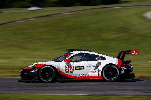 IMSA WeatherTech SportsCar Championship Michelin GT Challenge at VIR Virginia International Raceway, Alton, VA USA Friday 25 August 2017 912, Porsche, Porsche 911 RSR, GTLM, Gianmaria Bruni, Laurens Vanthoor World Copyright: Jake Galstad LAT Images