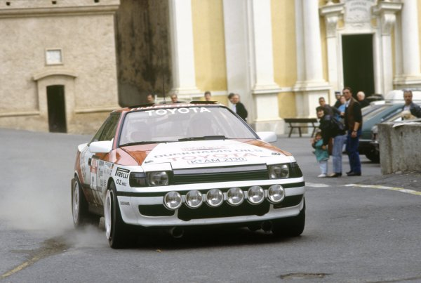 1988 World Rally Championship.Tour de Corse, Corsica, France. 3-6 May 1988.Kenneth Eriksson/Peter Diekmann (Toyota Celica GT-4), 6th position.World Copyright: LAT PhotographicRef: 35mm transparency 88RALLY14