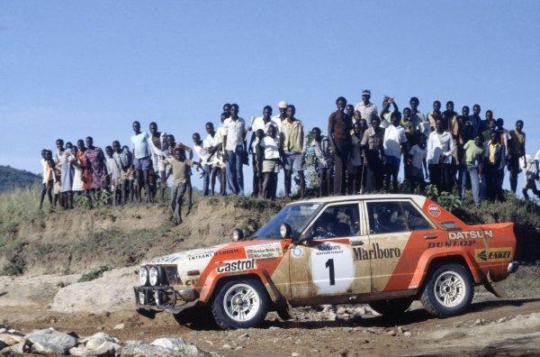 1982 World Rally Championship.Safari Rally, Kenya. 8-12 April 1982.Shekhar Mehta/Mike Doughty (Nissan Violet GT), 1st position.World Copyright: LAT PhotographicRef: 35mm transparency 82RALLY04