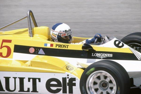 1981 Spanish Grand Prix.Jarama, Spain. 19-21 June 1981.Alain Prost (Renault RE30), retired.World Copyright: LAT PhotographicRef: 35mm transparency 81ESP08