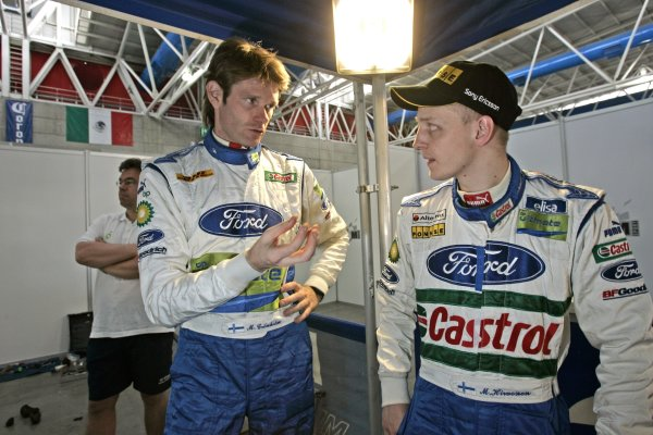 2006 FIA World Rally Champs. Round Three; Rally Mexico.; 2nd - 5th March 2006.Marcus Gronholm; Miko Hirvonen; Ford; Portrait.World Copyright: LAT/McKleinref: WRCMEX06-04 JPG