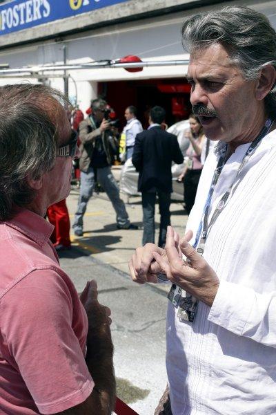 2006 San Marino Grand Prix - Sunday Race Imola, Italy. 20th - 23rd April 2006 Jacques Laffite and Gordon Murray, portrait. World Copyright: Charles Coates/LAT Photographic ref: Digital Image ZK5Y0040